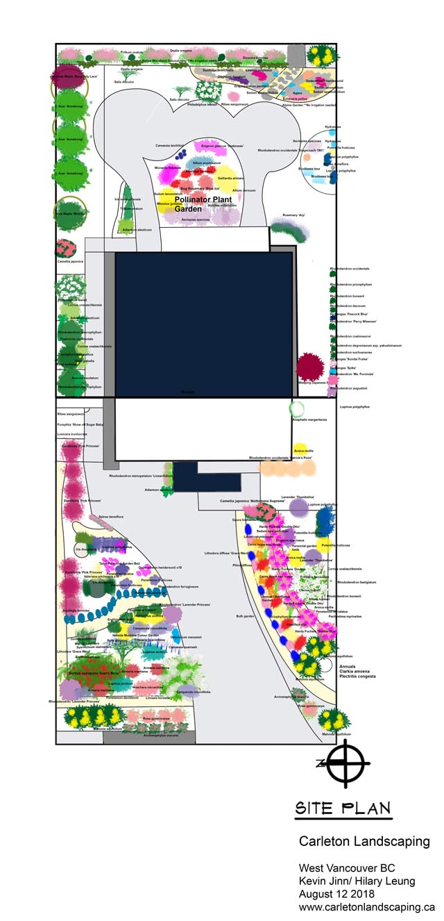Landscape design site plan