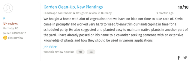 review,Homestars,google,10 star,rating,carleton landscaping