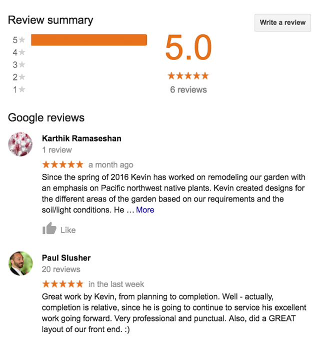 review,google,5 star,rating,carleton landscaping